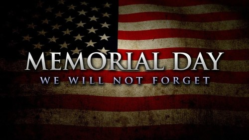 Library Closed on Monday, May 25th, in Honor of Memorial Day